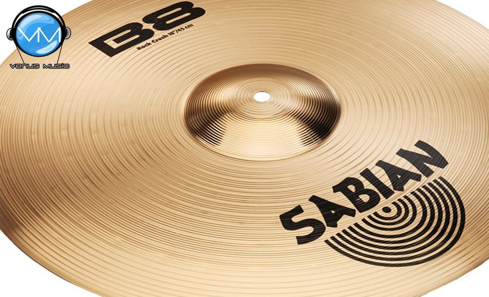 Sabian 41809 B8 Platillo Crash Rock 18 90832