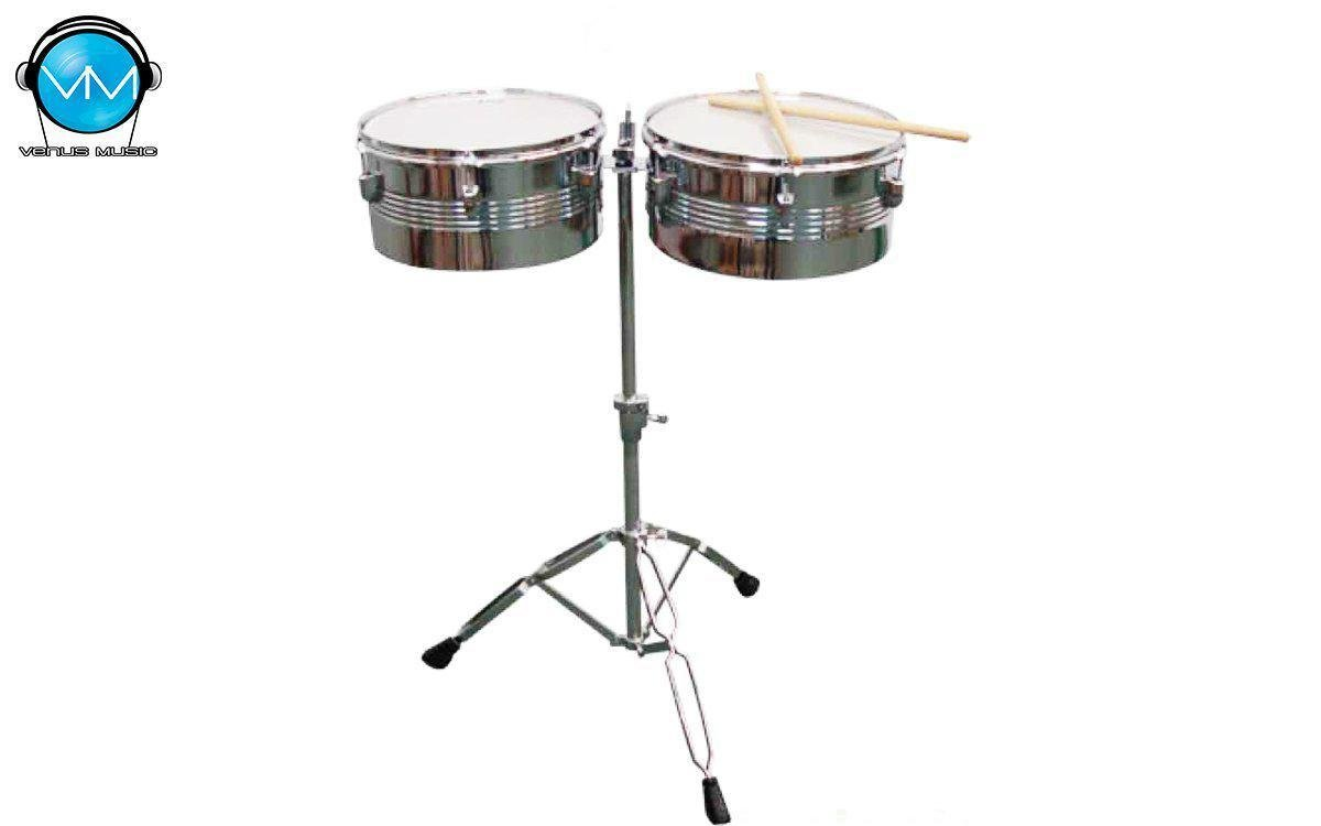 "Timbales Greggs Percussion 13"" y 14"" Crom. 982308932"
