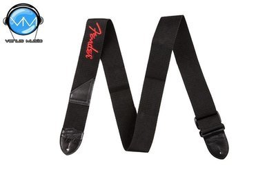FENDER STRAP POLY BLACK RED 0990662015 Correa guitarra