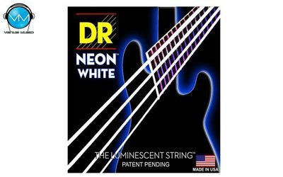Encordadura  DR Bajo 4 cuerdas NEON White 45-105