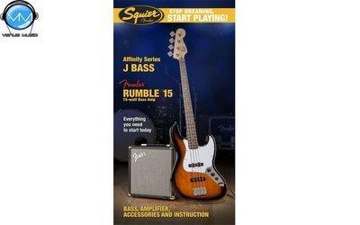 Paquete Fender Squier Affinity Series™ Jazz Bass® con amplificador Rumble™ 15
