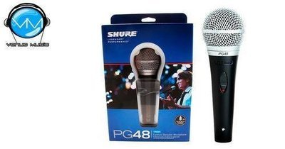 Shure PG48 Micrófono Cardioide Dinámico para Voces