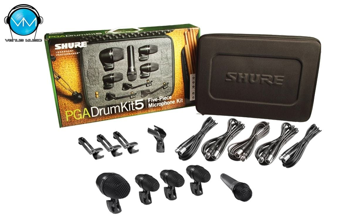 Shure PGADRUMKIT5 Kit de Micrófonos para Batería de 5 Piezas 930274024