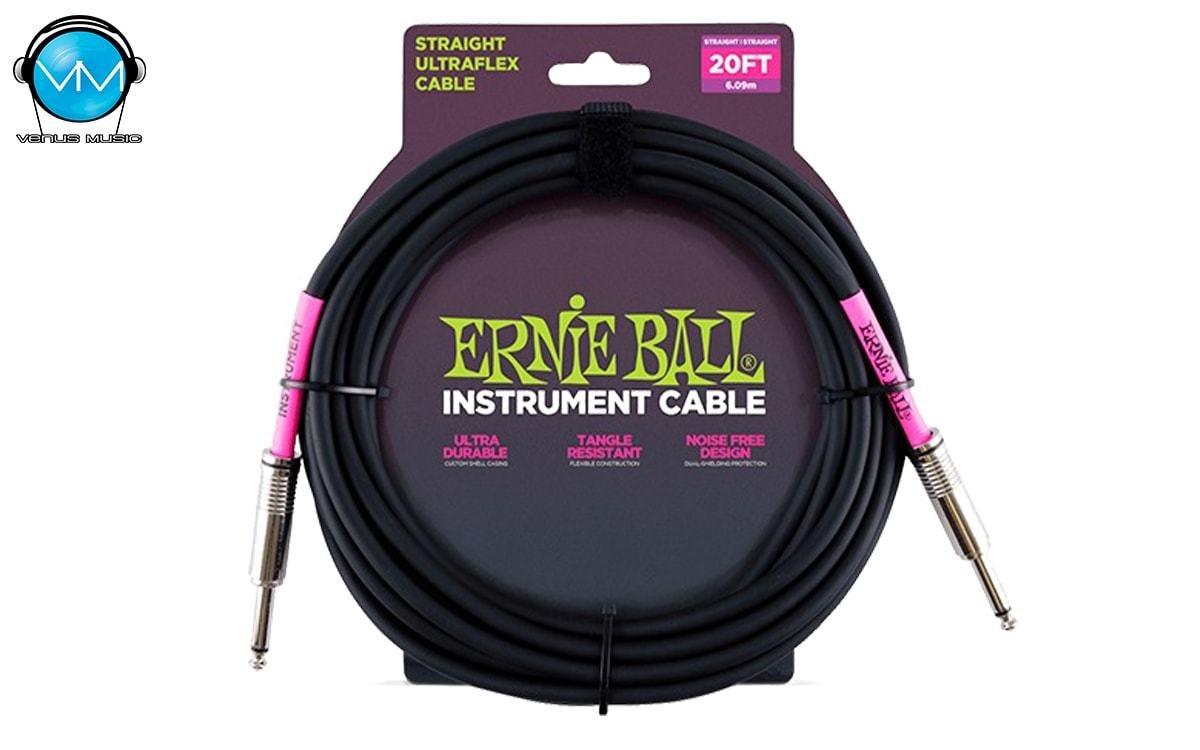 Cable para Instrumento Ernie Ball 6.09 Mts Recto/Recto 6046 3920523