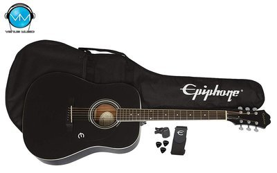 Guitarra Acústica Epiphone Player Pack FT100 Ebony