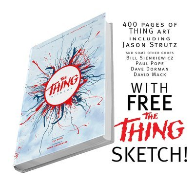 The Thing Artbook - with Free StrutzArt Sketch