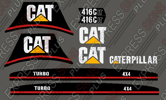 Loader backhoes replacement machinery decals haslet express caterpillar loader backhoe 416c 416cit new pyramid style 8208 publicscrutiny Image collections