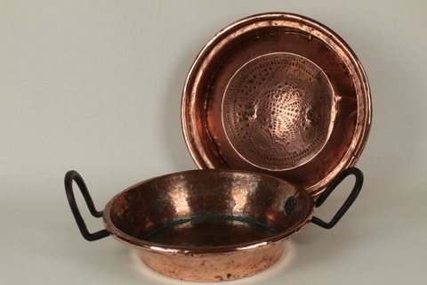 Hand-Hammered Cake Pan (Tourtiere) with unusual lid