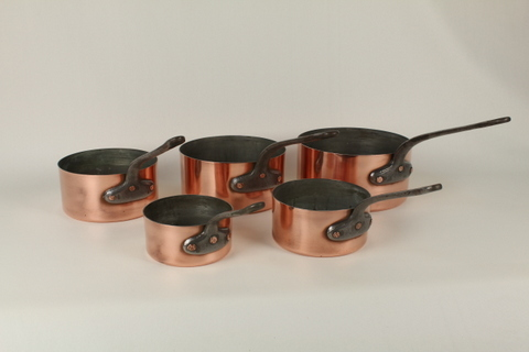 Set of 5 Nested Sauce Pans 0183
