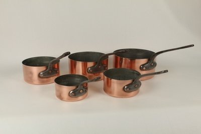 0183 Set of 5 Nested Sauce Pans