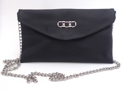 TATYZ ring-embellished small clutch (black)