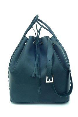 TATYZ  textured-leather bucket  bag (green)