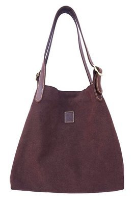 Canvas & leather beach  summer tote (brown)