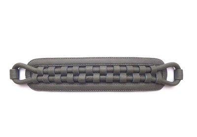 Leather-woven waist belt (grey)