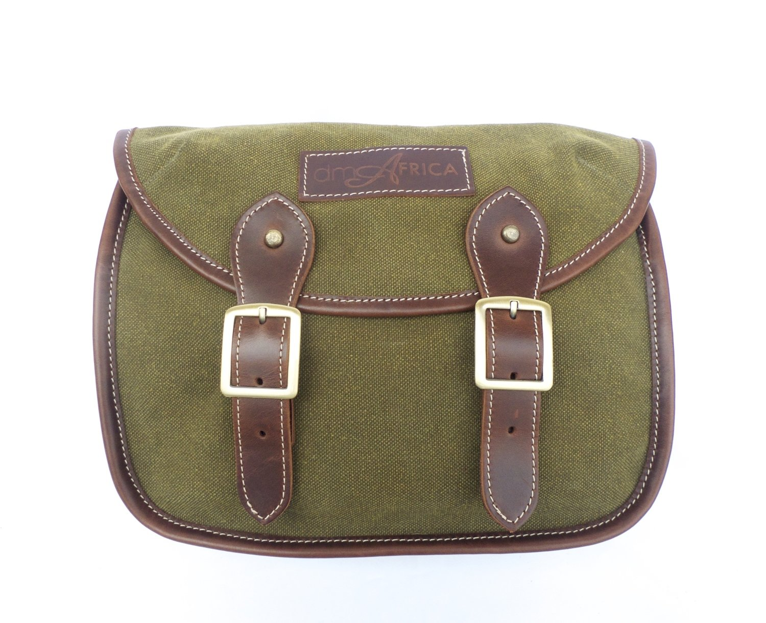 dmAfrica canvas and leather camera bag (olive)