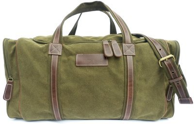 dmAfrica  Safari stone-washed canvas and genuine leather travel bag