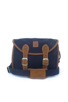 Canvas and leather camera bag (black)