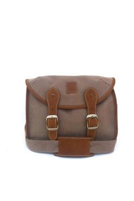 Canvas and leather camera bag (khaki)