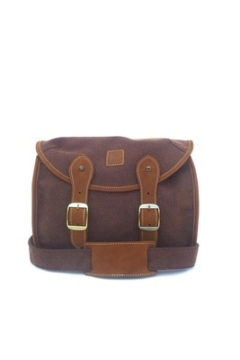 Canvas and leather camera bag (brown)