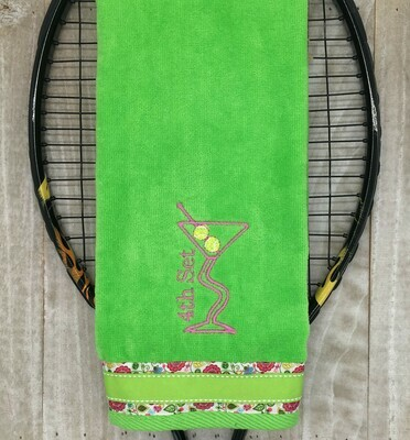 4th Set Crooked Martini Tennis Towel