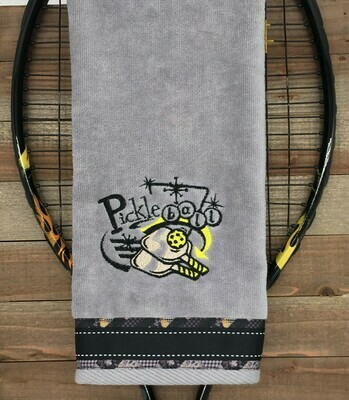 Pickleball Retro Style Towel