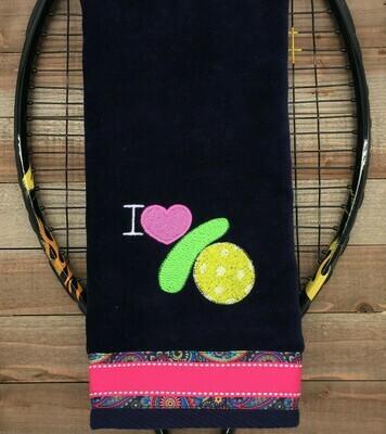 Pickleball Symbols Towel