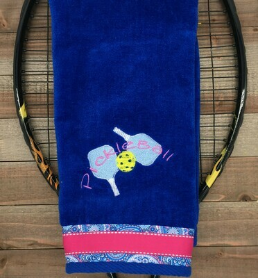 Pickleball with Two Paddles Towel