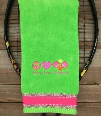 Peace Love Pickleball Towel