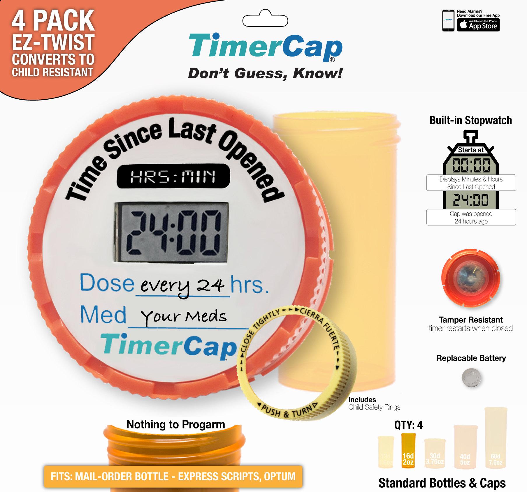 Mail-Order Bottles - TimerCaps 00TC00039-101
