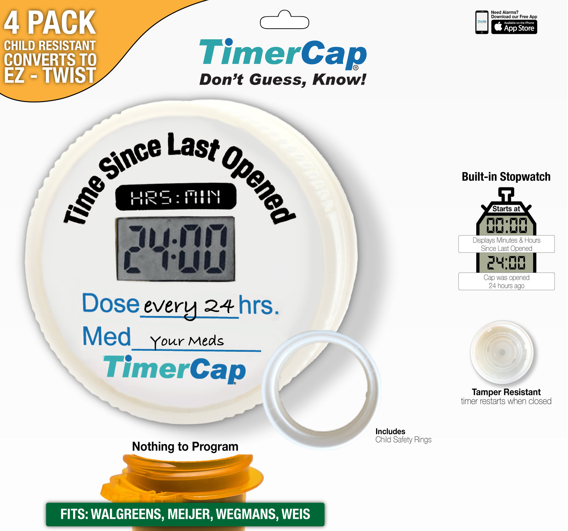 Walgreens Bottles - TimerCaps 00010009