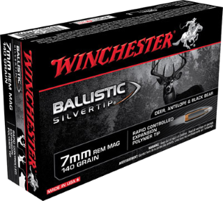 Winchester 7mm REM MAG Ballistic Silvertip, 140gr, 20rds