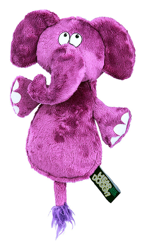 Hear Doggy Elephant Flattie Purple