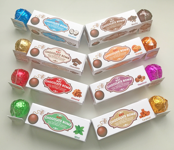 Box Of 3 Belgian Hot Chocolate Bombs 8 Flavours