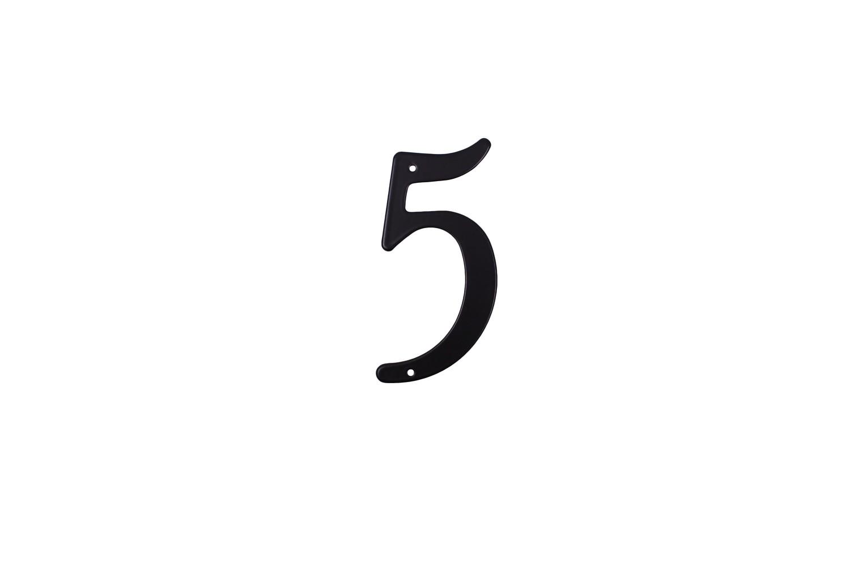 """Цифра дверная """"5"""" металическая."""