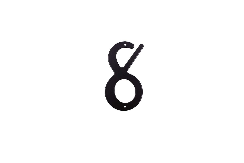 """Цифра дверная """"8"""" металическая."""