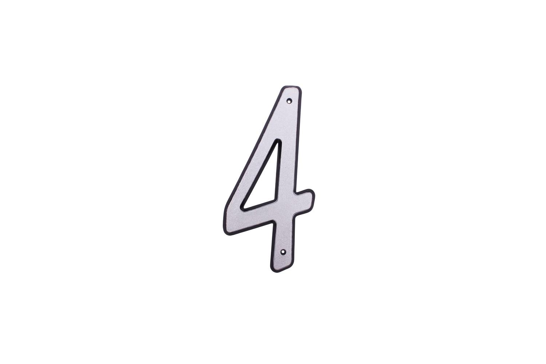 """Цифра дверная """"4"""" пластиковая."""