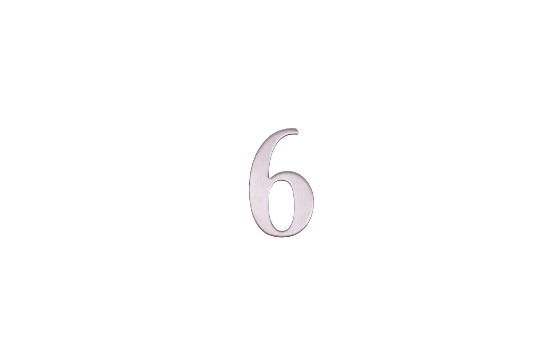 """Цифра дверная """"6"""" металическая."""