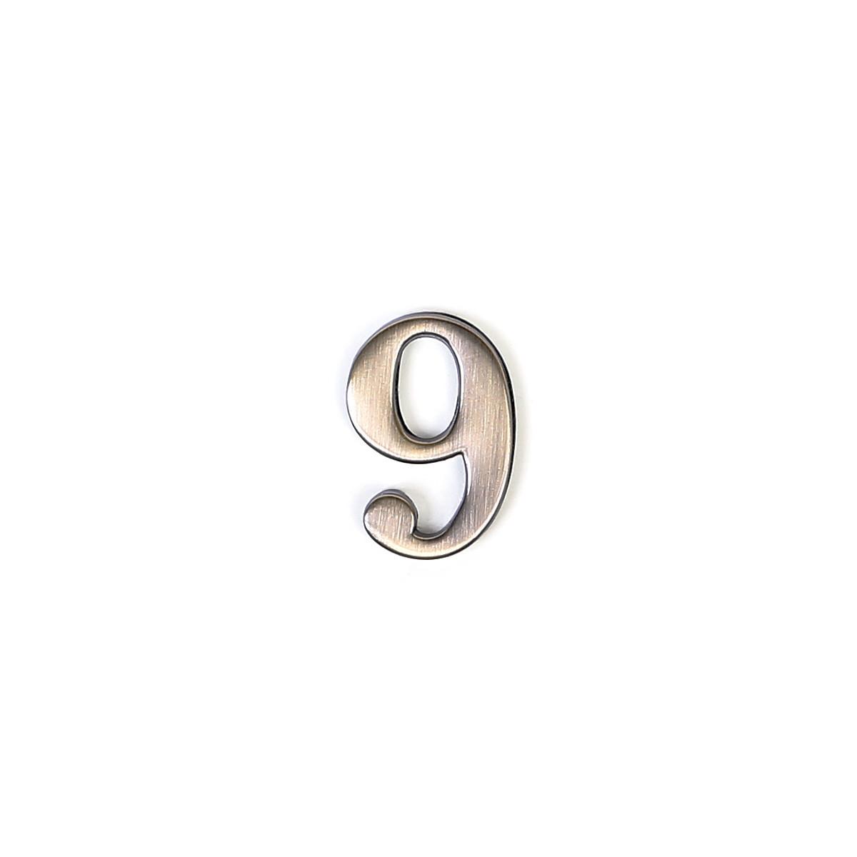 """Цифра дверная """"9"""" цинковая."""