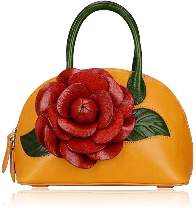 The Rosy Leather Handbag