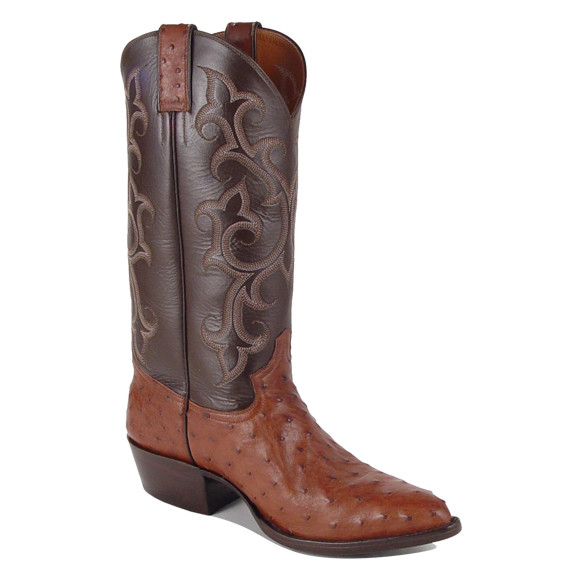 Major Montgomery Brown Ostrich Boots