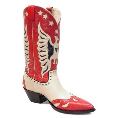 Rogers Fancy Boots Red