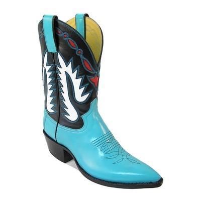 Scootin' Fancy Boots Turquoise & Black