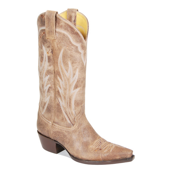 """Caliche"" Distressed Crazyhorse Leather Cowboy Boots"