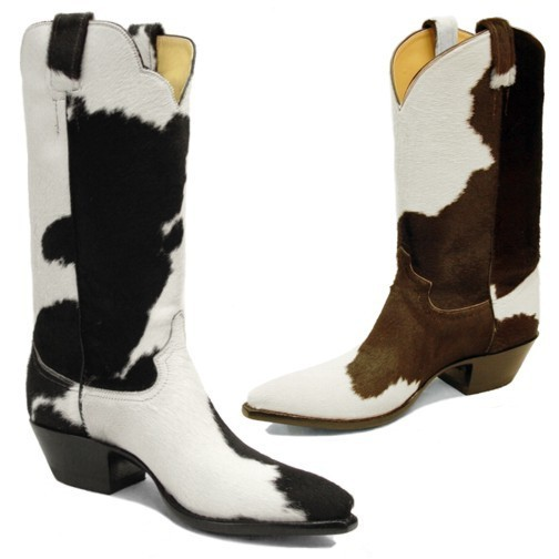 Hair-On Cowhide Cowboy Boots