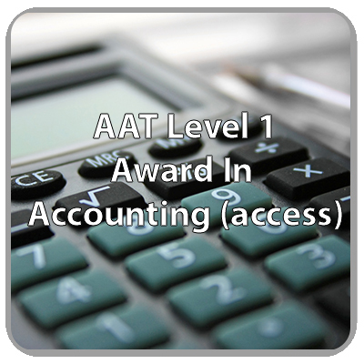 AAT - Level 1 - Award In Accounting (access)