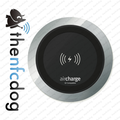 Wireless Surface Charger - (Aluminium) - For embedding in a table or desk - ex Demo