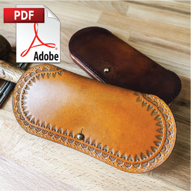 Protective Leather Glasses Case Printable PDF Pattern