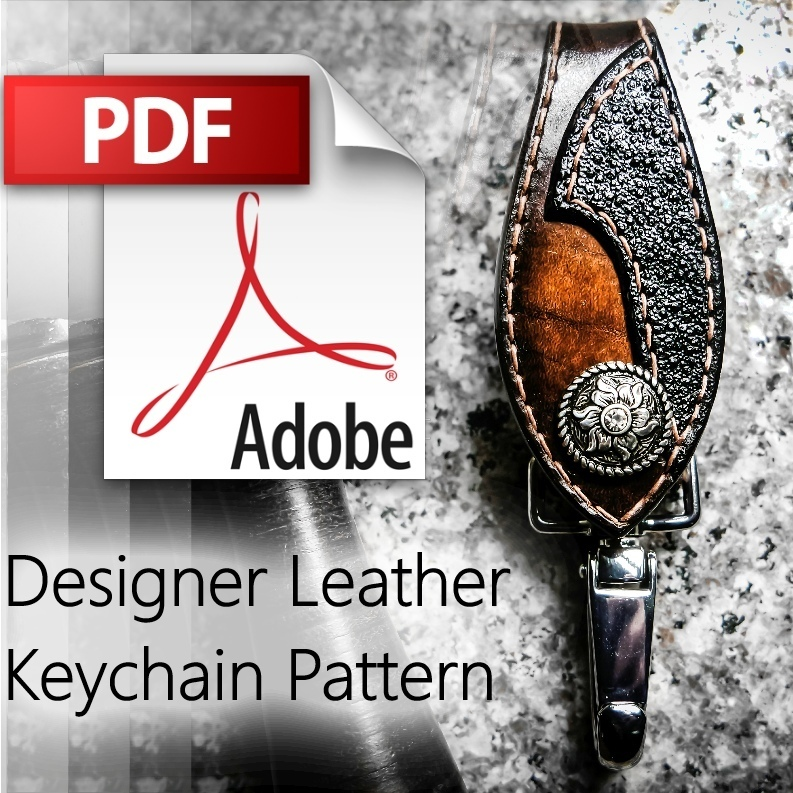 Customizable Leather Keychain Pattern Download