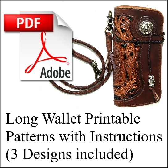 Long Wallet Printable PDF Pattern w/ Instructions (3 Designs Included)