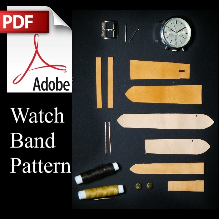 Designer Watch Band Pattern w/instructions (3 watch band sizes)